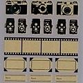 Mark's 復古相機底片貼紙 CMF-ST1-BK黑 相簿價$125 合購價$120