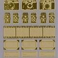 Mark's 復古相機底片貼紙 CMF-ST1-GD金 相簿價$125 合購價$120