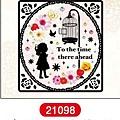 MW轉印貼紙 MW21098小女孩與鳥 代買價$155