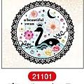 MW轉印貼紙 MW21101剪影天鵝 代買價$155