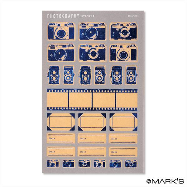 Mark's 復古相機底片貼紙 CMF-ST1-NV藍 相簿價$125 合購價$120