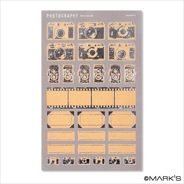 Mark's 復古相機底片貼紙 CMF-ST1-SV銀 相簿價$125 合購價$120