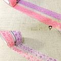 日本紙膠帶 蕾絲&碎花 紫粉系 四捲入 $280