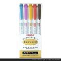 ZEBRA MILDLINER淡色雙頭螢光筆 和風組 $250