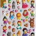 現貨已售完~MW貼紙 FunnyFunny童話故事系列  MW72985綜合童話凸凸貼