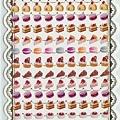 KJ貼紙 繽紛系列第1彈 KJ43619蛋糕 $80