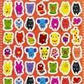 日製貼紙 RS476可愛動物好餓咧 $50