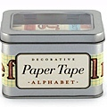 美國紙膠帶 cavallini&co 鐵盒5捲入 ALPHABET字母款