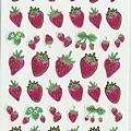 和紙貼紙 水彩風草莓 $100