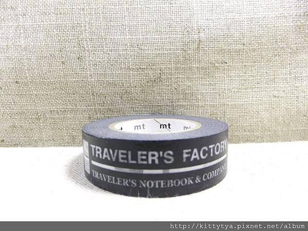 MIDORI TF系列 (Traveler's Factory) 原創和紙膠帶 LOGO黑