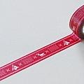 現貨已售完~KAMOI和紙膠帶 mt2011聖誕限定單捲 手織物紅