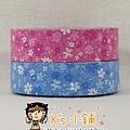 日本紙膠帶 amifa系列 小花園桃&藍 二捲入 $140