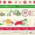 美國紙膠帶 cavallini&co 鐵盒5捲入 2011限定聖誕款