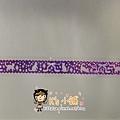 MW Lace Deco蕾絲鏤空裝飾膠帶15mm MW91385貓&緞帶紫 $185