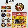 迪士尼甜點系列貼紙包 S8570647CARS $80
