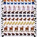 KJ貼紙 繽紛系列第3彈 KJ43970森林動物 $80