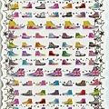 KJ貼紙 繽紛系列第2彈 KJ43885半筒帆布鞋 $80