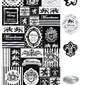 KJ貼紙 黑白剪影系列 KJ43982皇式家徽 $80