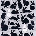 KJ貼紙 黑白剪影系列 KJ43983黑白兔 $80