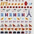 現貨已售完~KJ43361手帳行事曆貼 法國鐵塔