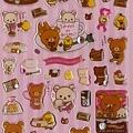 懶熊巧克力&咖啡系列 水晶水鑽手帳貼SE08302粉底 代買價$135~