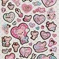 san-x手帳貼紙 粉紅豬女孩 SE07202金邊白 $90