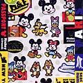 KJ貼紙 迪士尼DC系列 KJ16776塗鴨Q版行李紅 $130