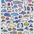 KJ貼紙 KJ43702海洋動物 $75