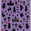 MW貼紙 童話故事系列 MW73639剪影愛麗絲紫  $75