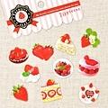 MW最愛貼紙包第三彈 MW73672草莓 $75