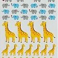 QA手帳貼 COLOR+系列第二彈 QA61171大象長頸鹿 $75