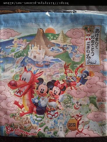 迪士尼樂園限定 2012年正月系列 束口袋 代買價$390