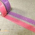 日本紙膠帶 蕾絲 紫&粉 2捲入 $150