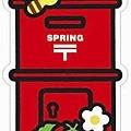 $100 季節紅色郵筒型明信片2012春季限定版