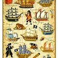 MW貼紙 水晶貼圖鑑系列 MW74474海盜船 $125