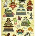 MW貼紙 水晶貼圖鑑系列 MW74476日本古城 $125