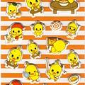 日本人氣小雞泡麵貼紙 PSC-02橘 $150