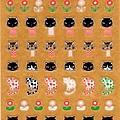 Oriental手帳貼 手繪家合作系列 S-1552 NoriQuet貓 $85