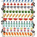 KJ貼紙 繽紛系列第6彈 KJ44322夏季小物 $80