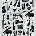 KJ貼紙 黑白剪影第二彈 KJ44364樂器 $80