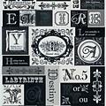 KJ貼紙 黑白剪影第二彈 KJ44356字母 $80