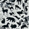 KJ貼紙 黑白剪影第二彈 KJ44361動物 $80