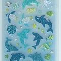 MW夏日貼紙 MW74515亮粉海洋生物 $130 A