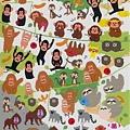 KJ貼紙 動物當家第2彈 KJ44125猴 $75
