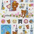 懶熊SE限定商品 懶熊貼紙 SE11502天空樹白 $170