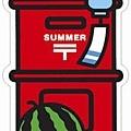 $90 季節紅色郵筒型明信片2012夏季限定版