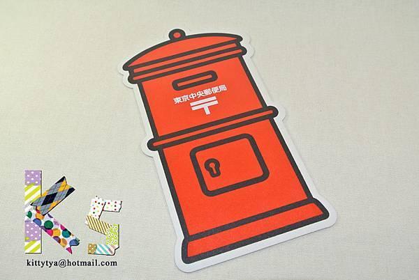 紅色郵筒造型明信片 東京中央局限定 $95 A