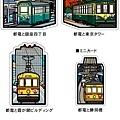 日本當地特色明信片 東京都電套組 $510