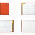 midori手帳 歐吉桑系列 A6橘 週間版 $440