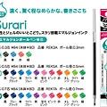 ZEBRA Prefil筆管專用替芯 Surari系列 $45/色 A